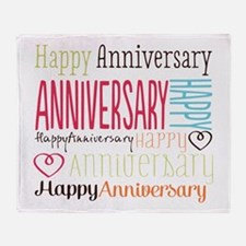 Modern Stylish Anniversary Throw Blanket