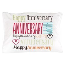 Modern Stylish Anniversary Pillow Case