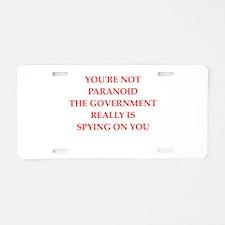 PARANOID Aluminum License Plate