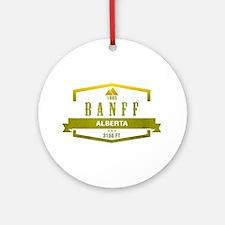 Banff Ski Resort Alberta Ornament (Round)