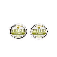 Beaver Creek Ski Resort Colorado Oval Cufflinks