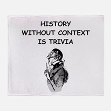 history Throw Blanket