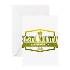 Crystal Mountain Ski Resort Washington Greeting Ca