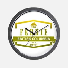 Fernie Ski Resort British Columbia Wall Clock