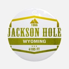 Jackson Hole Ski Resort Wyoming Ornament (Round)