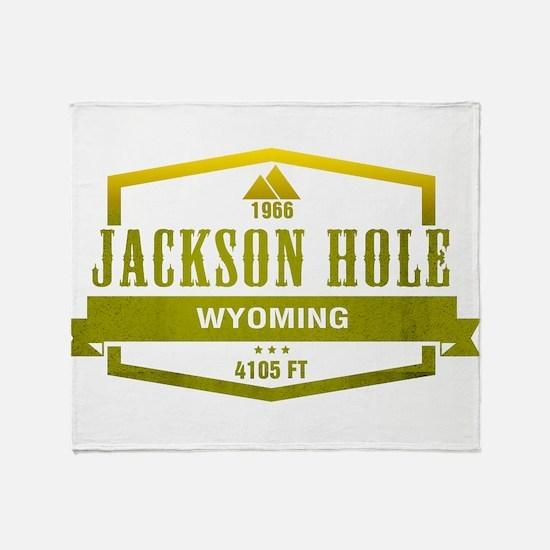 Jackson Hole Ski Resort Wyoming Throw Blanket