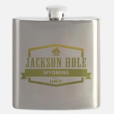 Jackson Hole Ski Resort Wyoming Flask