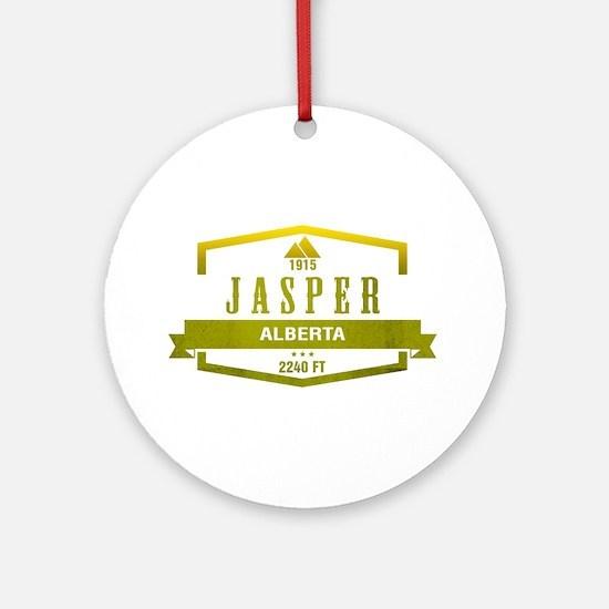 Jasper Ski Resort Alberta Ornament (Round)