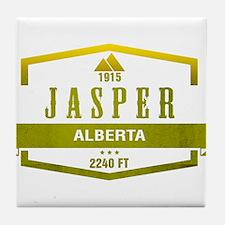 Jasper Ski Resort Alberta Tile Coaster