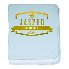 Jasper Ski Resort Alberta baby blanket