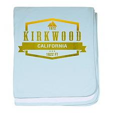 Kirkwood Ski Resort California baby blanket