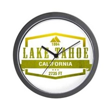 Lake Tahoe Ski Resort California Wall Clock