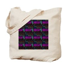 Happy Anniversary Text Pattern Tote Bag