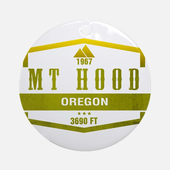 Mt Hood Ski Resort Oregon Ornament (Round)