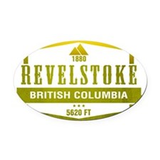 Revelstoke Ski Resort British Columbia Oval Car Ma