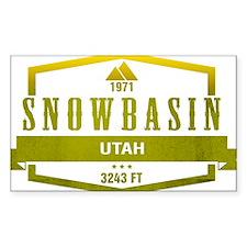 Snowbasin Ski Resort Utah Decal