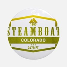 Steamboat Ski Resort Colorado Ornament (Round)