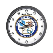 USS Enterprise CVN-65 Wall Clock