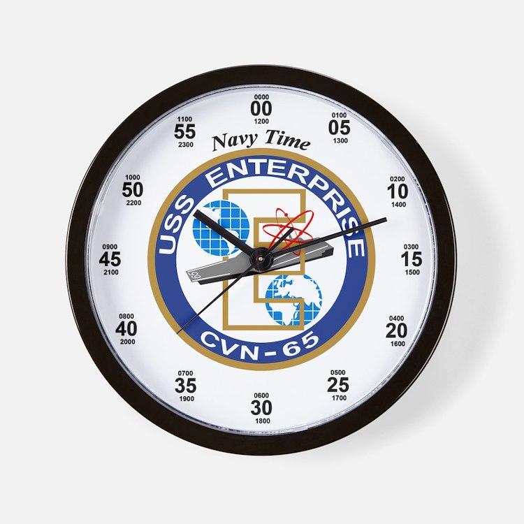 USS Enterprise CVN-65 Wall Clock