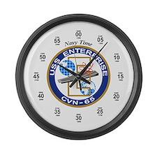 USS Enterprise CVN-65 Large Wall Clock