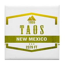 Taos Ski Resort New Mexico Tile Coaster
