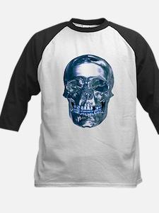 Blue Chrome Skull Baseball Jersey