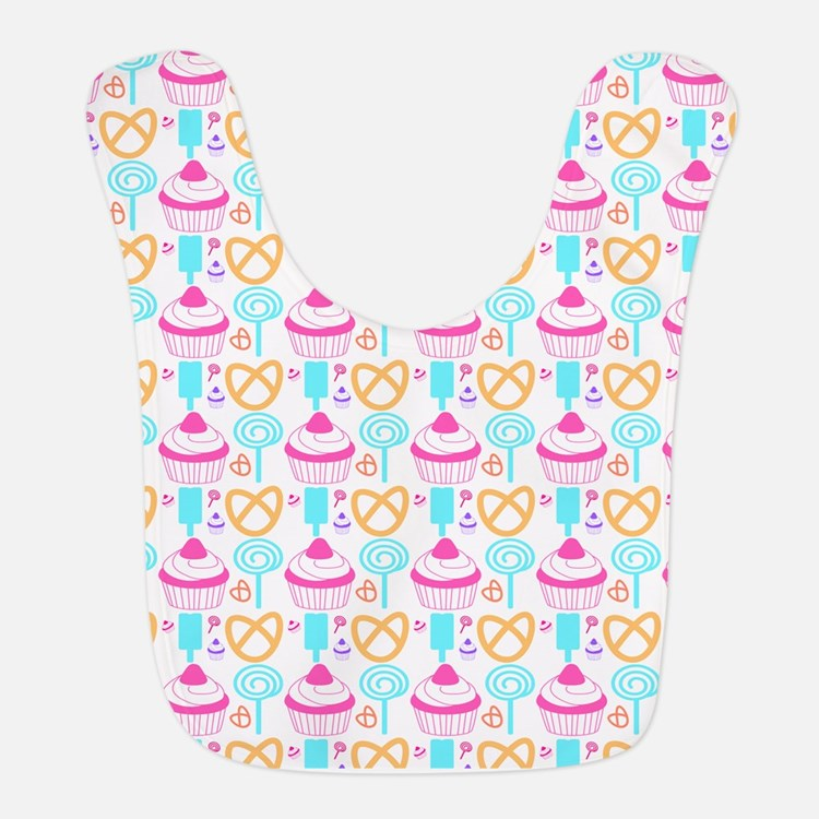 Colorful Cupcake Sweets Bib