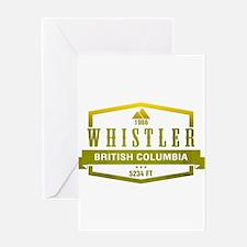 Whistler Ski Resort British Columbia Greeting Card