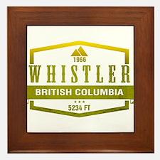 Whistler Ski Resort British Columbia Framed Tile
