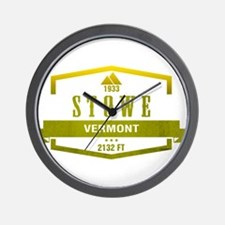 Stowe Ski Resort Vermont Wall Clock