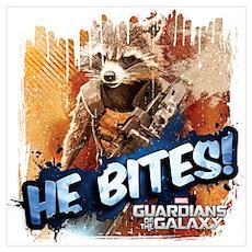 Guardians of the Galaxy: Rocket Bites Wall Art Poster