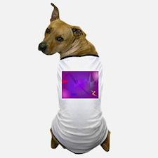 Black Hole Purple Digital Abstract Art Dog T-Shirt