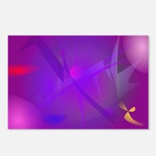 Black Hole Purple Digital Abstract Art Postcards (