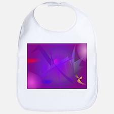 Black Hole Purple Digital Abstract Art Bib