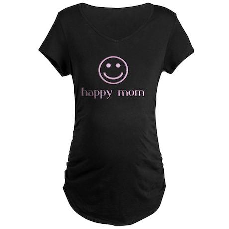 HAPPY MOM Maternity T-Shirt Dark Women's
