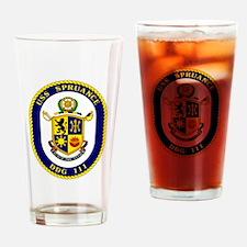 USS Spruance DDG 111 Drinking Glass