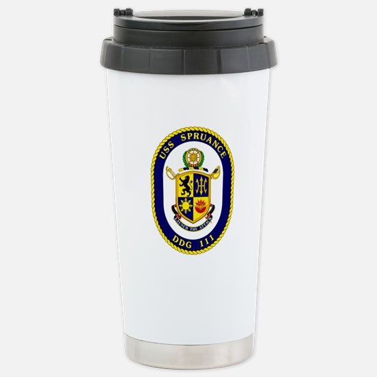 USS Spruance DDG 111 Stainless Steel Travel Mug