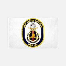 USS Dunham DDG 109 3'x5' Area Rug
