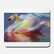 abstract swan Mousepad