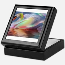 abstract swan Keepsake Box