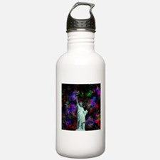 Mixed Media Statue of Liberty Water Bottle