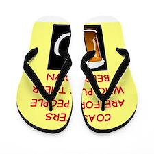 beer drinker Flip Flops