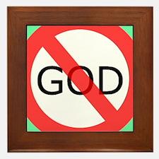 atheism Framed Tile