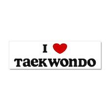 Cute Taekwondo Car Magnet 10 x 3