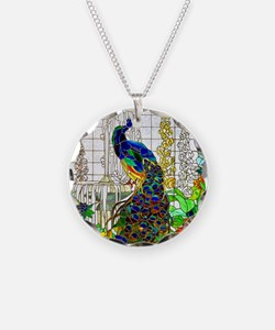 Stained Glass Peacock Necklace