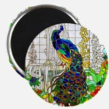 Stained Glass Peacock Magnet