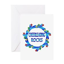 Cheerleading Rocks Greeting Card