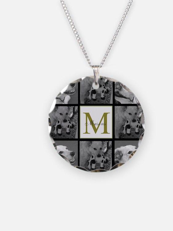 Beautiful Photo Block and Monogram Necklace