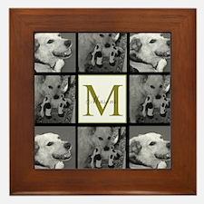 Beautiful Photo Block and Monogram Framed Tile