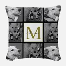 Beautiful Photo Block and Monogram Woven Throw Pil